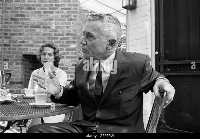 LeRoy Collins and Mary Call Collins at their home in Georgetown - Stock Image