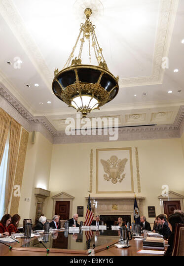 Washington, DC, USA. 22nd Oct, 2014. File photo taken on Oct. 22, 2014 shows an open meeting attended by U.S. Fed - Stock Image
