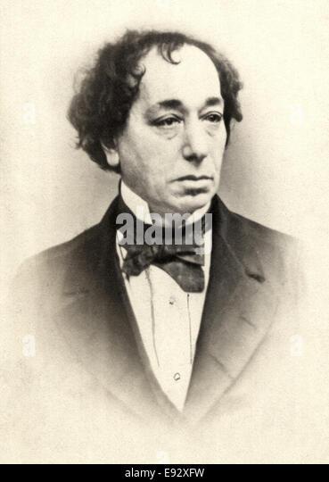 Benjamin Disraeli (1804-1881), British Politician and Prime Minister of the United Kingdom, Portrait, circa 1870 - Stock Image