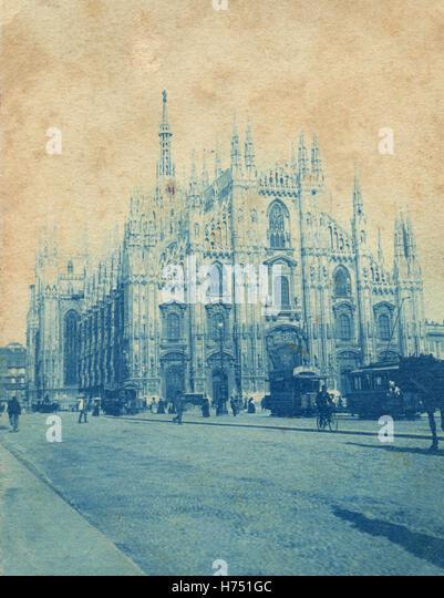 Piazza del Duomo, Milan, Italy - Stock Image