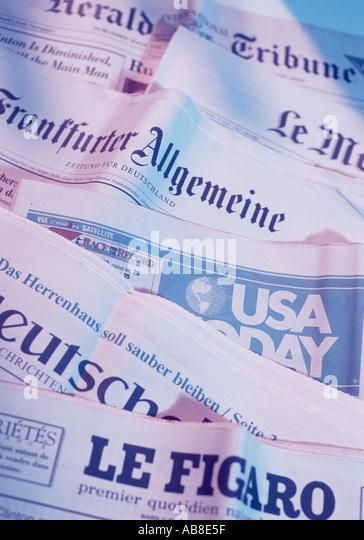 International press - Stock Image