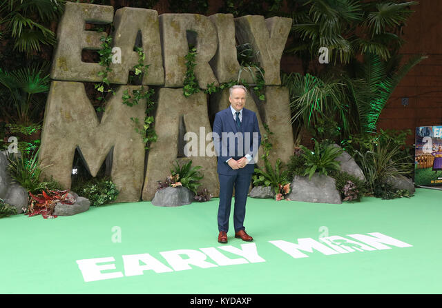 London, UK. 14th January, 2018. Nick Park, Early Man - World premiere, BFI IMAX, London UK, 14 January 2018, Photo - Stock Image