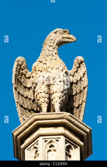 Carved stone eagle stock photos