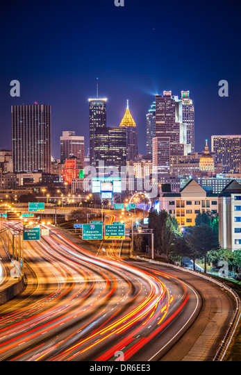 Traffic in Atlanta, Georgia, USA. - Stock Image