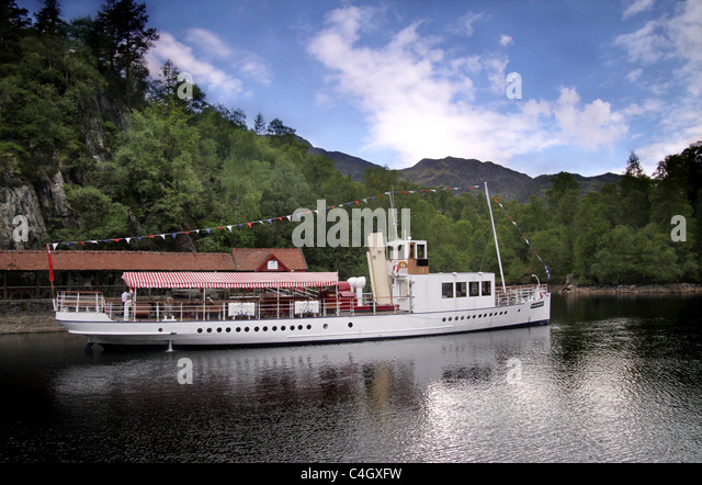 Sir Walter Scott, steamship, Loch Katrine, Scotland - Stock-Bilder
