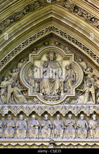Jesus and apostles sculptures stock photos