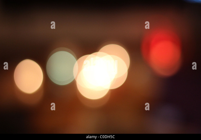 Abstract light bokeh - Stock Image