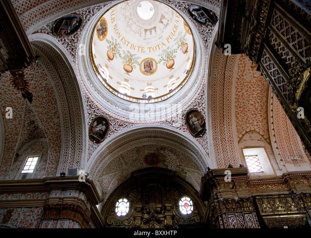 Ecuador. Quito city. Church of La Merced. - Stock Image