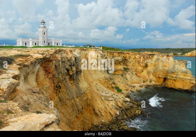 Los Morillos Lighthouse Cabo Rojo Puerto Rico El Faro - Stock Image