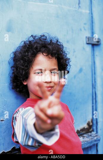 Portrait of a boy looking cool - Stock-Bilder