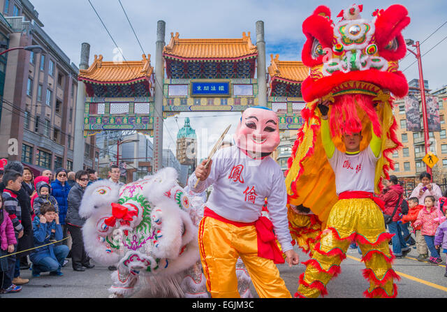 2015 Chinese New Year Parade, Vancouver, British Columbia, Canada - Stock Image