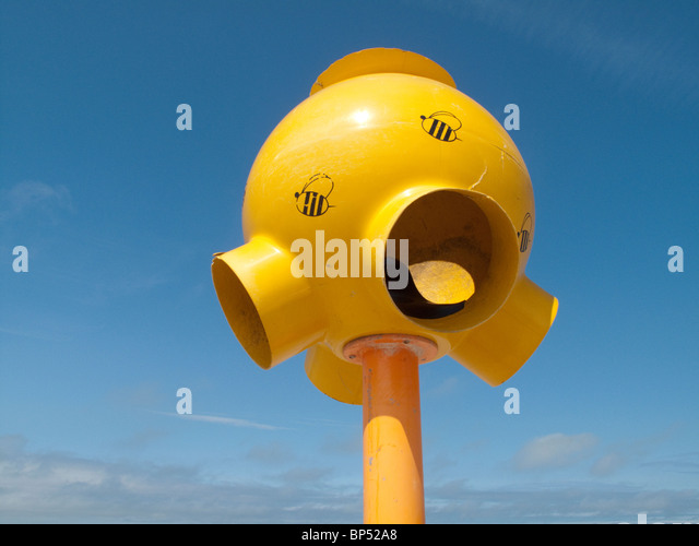 Loudspeaker on the beach, Le Touquet - Stock Image