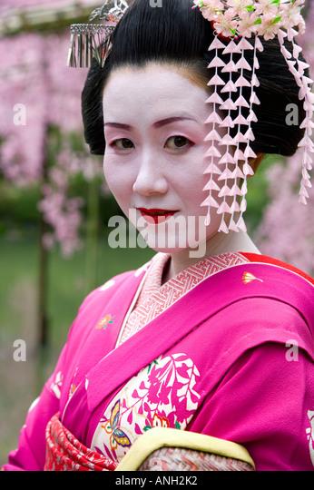 Geisha, Maruyama Koen, Kyoto, Japan - Stock Image