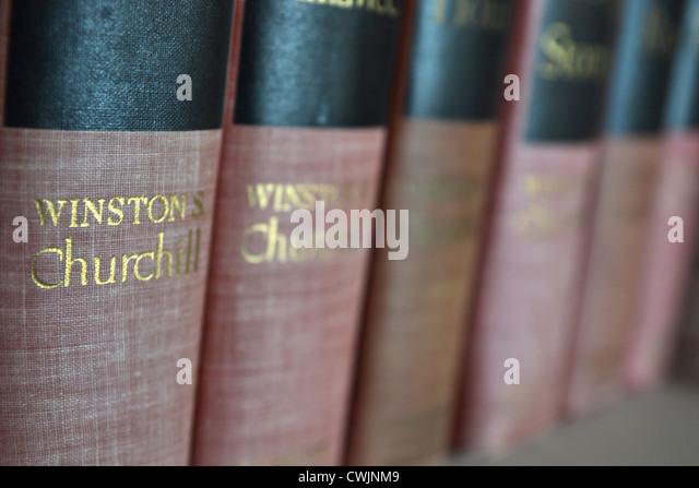 Vintage Winston Churchill Books - Stock Image
