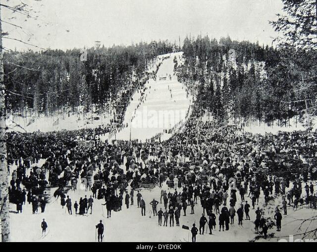 Photograph of Holmenkollbakken. - Stock Image