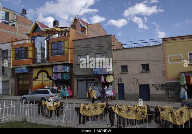 Chalet in El Alto, Bolivia, also called cholets - Stock Image