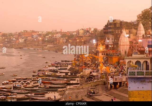 Man Mandir Ghat, Varanasi, Uttar Pradesh, India, Asia - Stock-Bilder