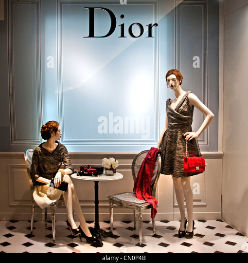 Dior Le Bon Marché Paris France Fashion department store - Stock Image