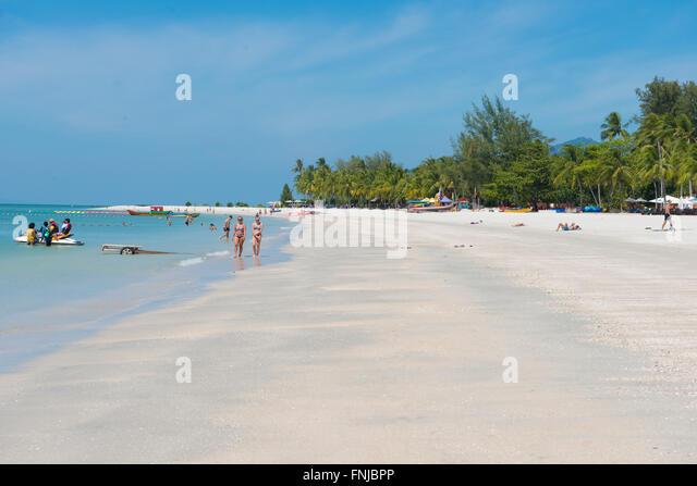 Langkawi Cenang beach in the morning, Malaysia - Stock Image