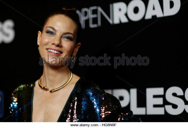 Cast member Michelle Monaghan poses at the premiere of the movie 'Sleepless' in Los Angeles, California - Stock-Bilder