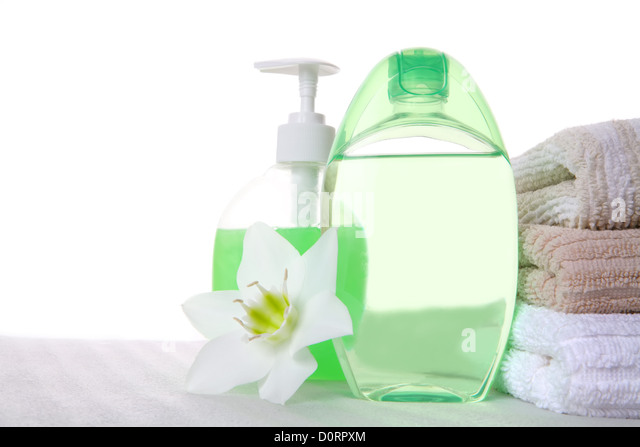 hygenic stilllife with copy-space - Stock Image