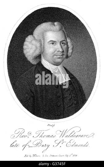 THOMAS WALDEGRAVE English churchman of Bury St  Edmunds.        Date: CIRCA 1814 - Stock Image