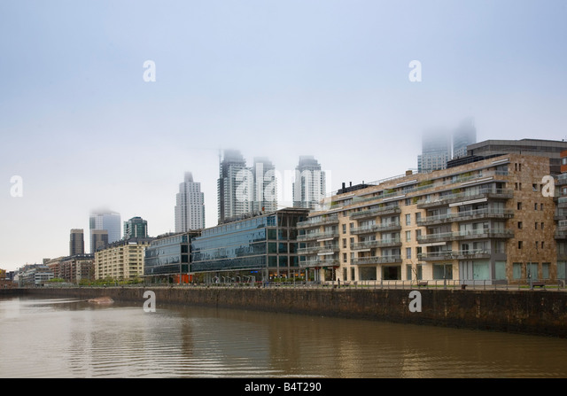 Modern buildings Puerto Madero, Buenos Aires, Argentina - Stock Image