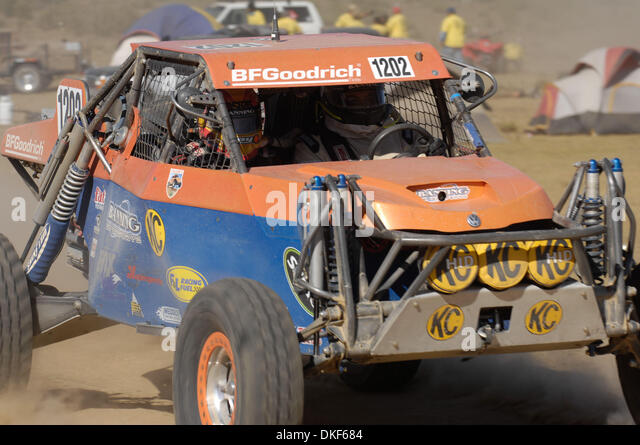 Jun 06, 2009 - Valle de la Trinidad, Baja Norte, Mexico - LEE BANNING, winner of the SCORE Lite Class (VW-powered, - Stock Image