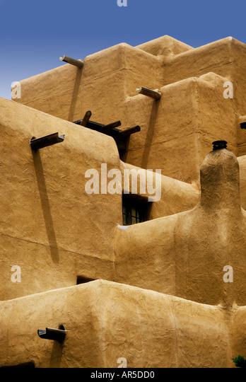 Modern adobe architecture Santa Fe New Mexico USA - Stock-Bilder