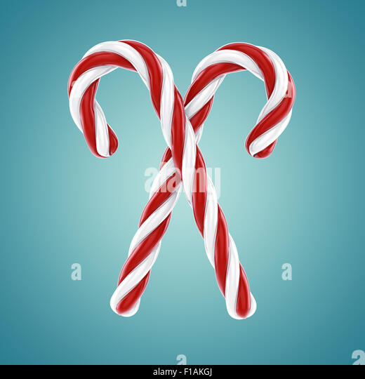 Candy canes , Confectionery - Stock Image