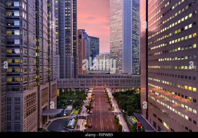 Tokyo, Japan Metropolitan Government Building cityscape in Shinjuku Ward. - Stock-Bilder