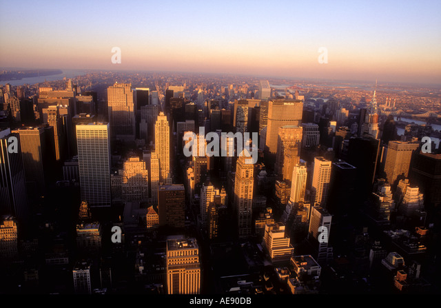 New York City skyline New York USA - Stock Image
