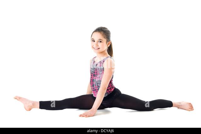 Gymnastic Girl - Stock Image