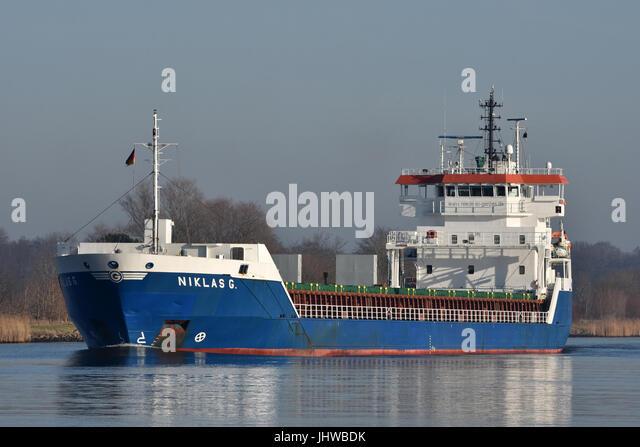 General Cargo Vessel Niklas G - Stock Image