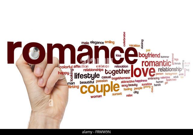 Romance word cloud - Stock-Bilder