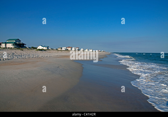 Housing development along Gulf of Mexico St George Island Florida USA - Stock Image