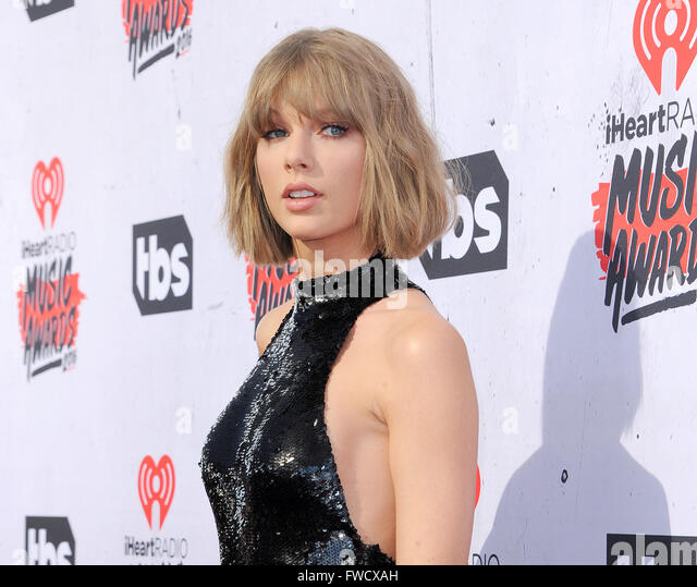 Los Angeles, California, USA. 3rd April, 2016. Taylor Swift at the 2016 iHeartRadio Music Awards held at the Forum - Stock Image