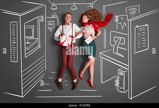 Workplace romance. - Stock-Bilder