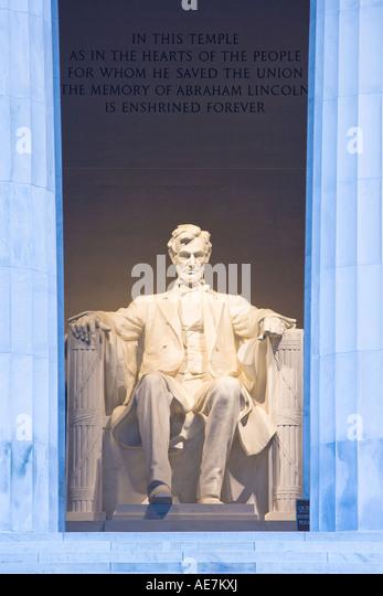 USA Washington DC Abraham Lincoln Memorial - Stock Image