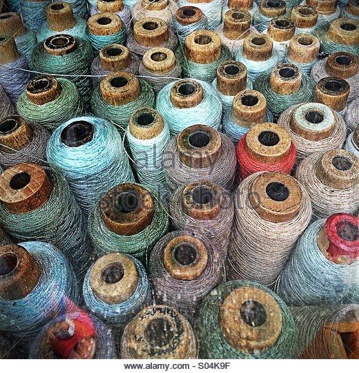 Vintage Cotton Reels - Stock-Bilder