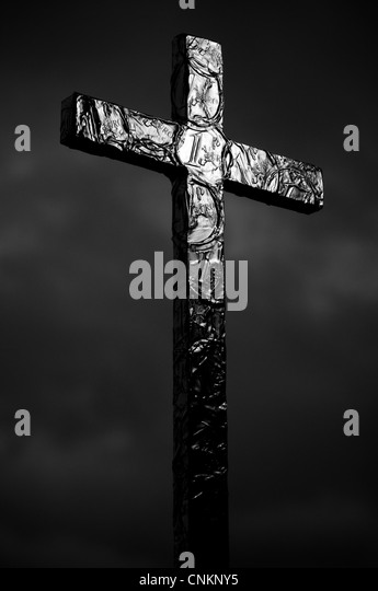 Installation art. Holy cross - Stock Image