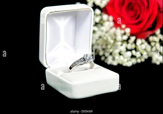 black and white engagement ring stock photos amp black and