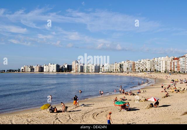 Pocitos beach, Montevideo, Uruguay - Stock Image
