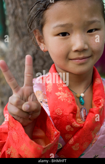 Victory for Tibet - Stock Image