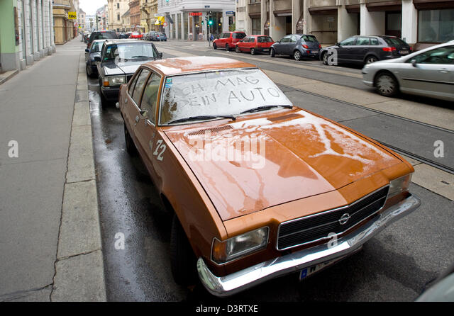 Vienna, Austria, sympathy for an old Opel - Stock Image