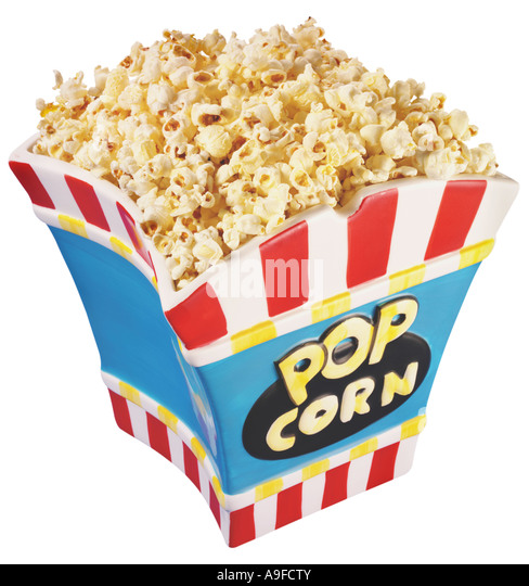POPCORN CUT OUT - Stock Image