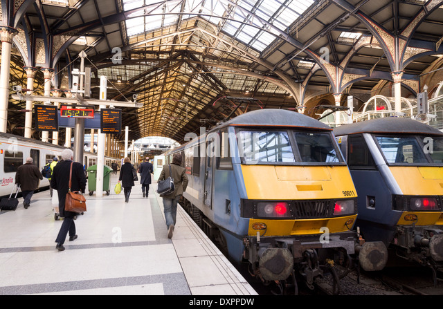 Liverpool Street train station, London, England, UK - Stock Image