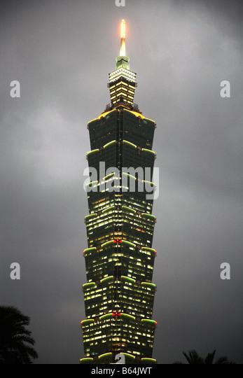 Taiwan Taipei Taipei International Financial Centre 101 - Stock Image