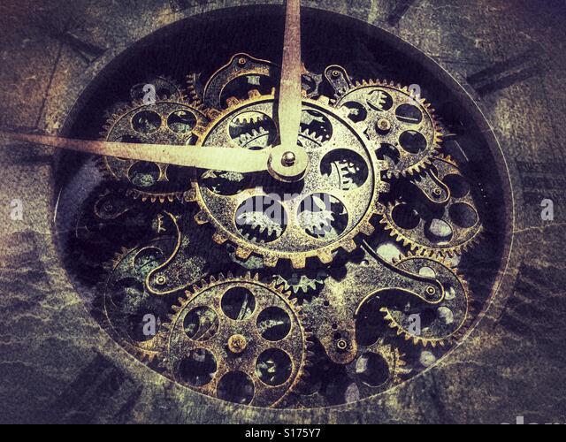 Gears of a clock - Stock-Bilder