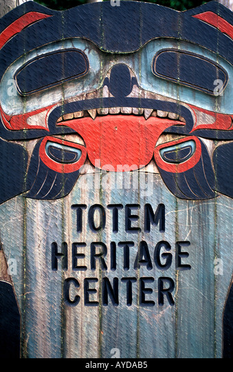 Alaska Ketchikan Totem Heritage Center - Stock Image